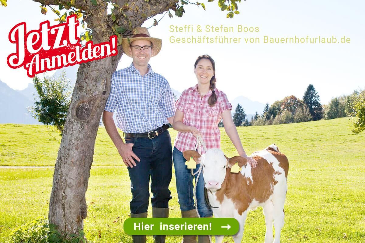 Stefanie & Stefan Boos Geschäftsführer von Bauernhofurlaub.de